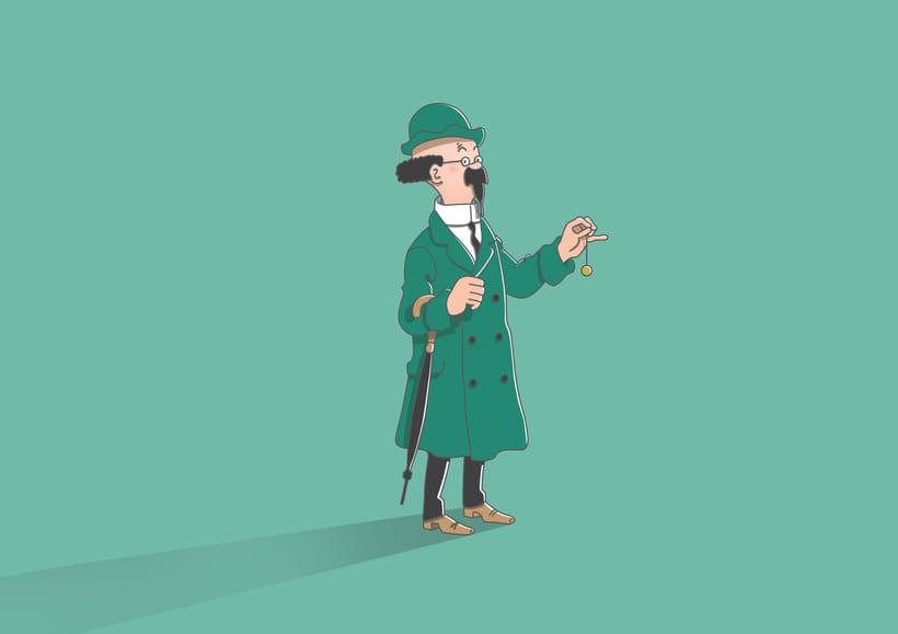 """Diseño de personajes de """"Las Aventuras de Tintín"""" 8"""