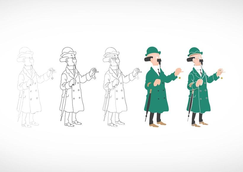 """Diseño de personajes de """"Las Aventuras de Tintín"""" 9"""