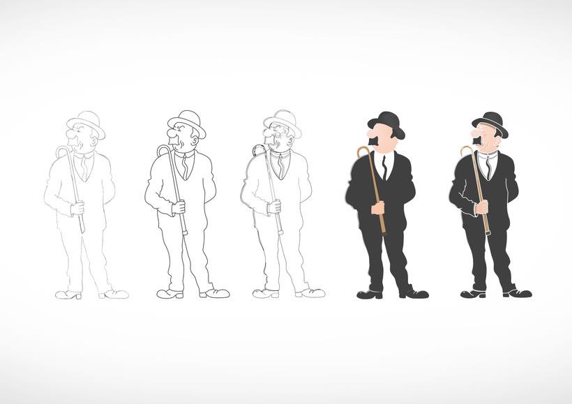 """Diseño de personajes de """"Las Aventuras de Tintín"""" 14"""