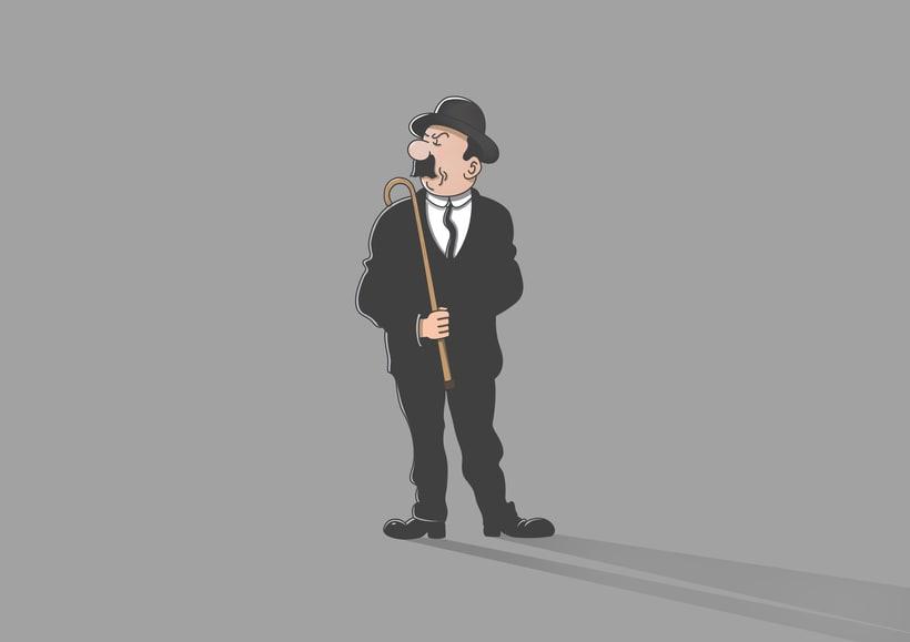"""Diseño de personajes de """"Las Aventuras de Tintín"""" 15"""
