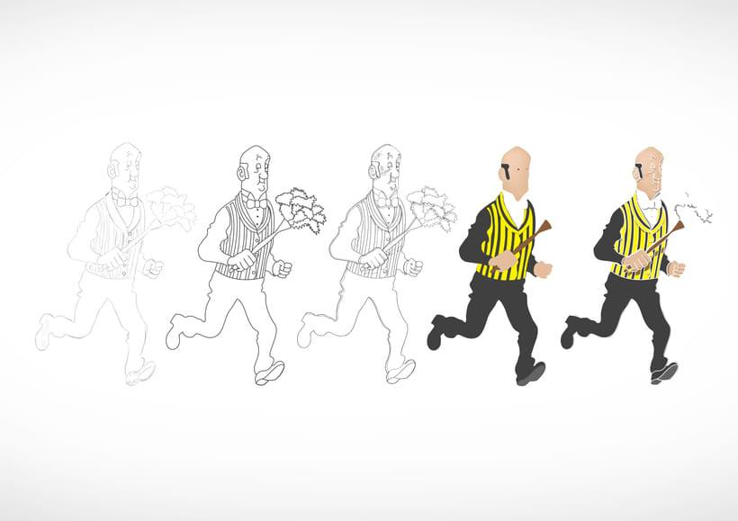 """Diseño de personajes de """"Las Aventuras de Tintín"""" 20"""
