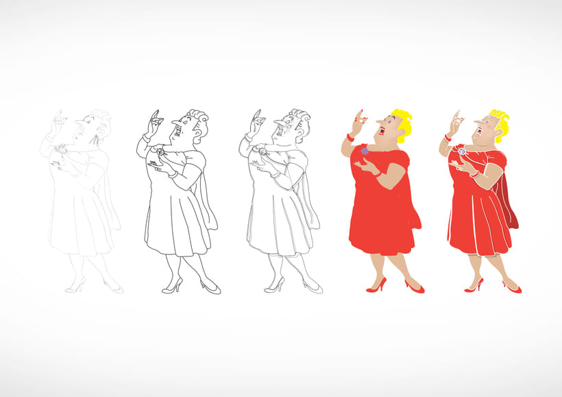 """Diseño de personajes de """"Las Aventuras de Tintín"""" 23"""