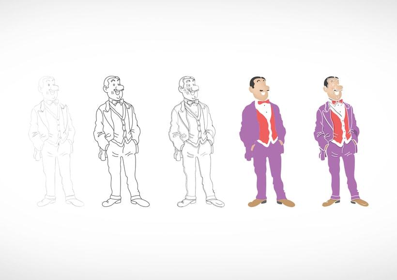 """Diseño de personajes de """"Las Aventuras de Tintín"""" 26"""