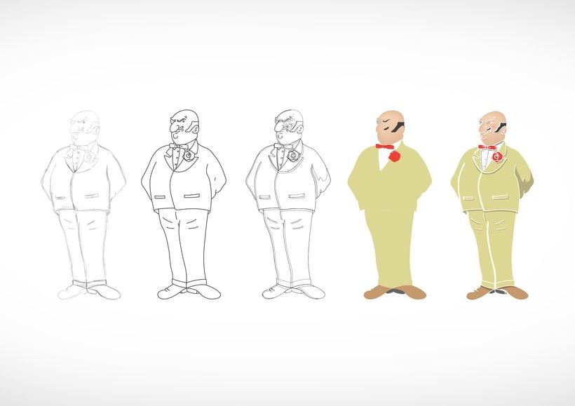 """Diseño de personajes de """"Las Aventuras de Tintín"""" 32"""