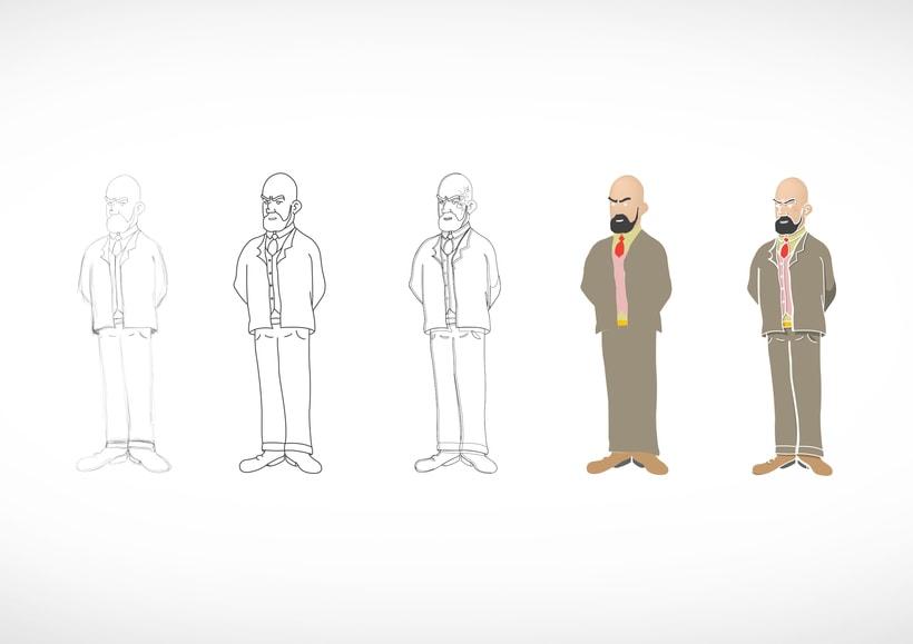 """Diseño de personajes de """"Las Aventuras de Tintín"""" 35"""
