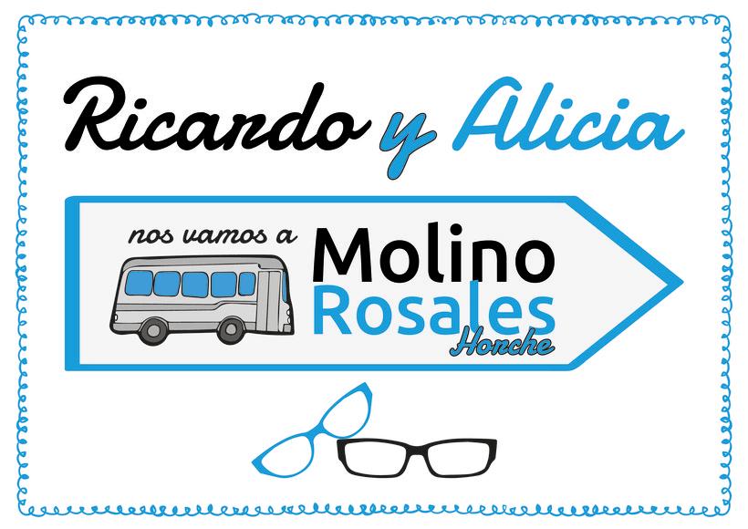 """Cartelería para boda """"Ricardo y Alicia"""" 2"""