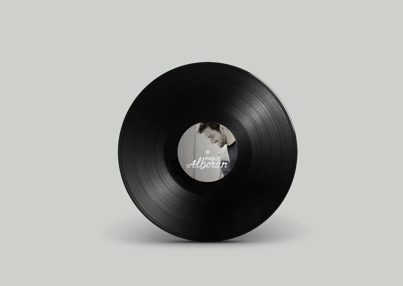 Mi Proyecto del curso: Caligrafía y Rock'n'Roll. Logotipo para músico (odioso) Pablo Alborán. 0