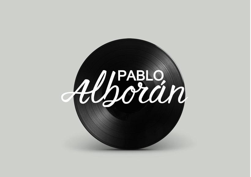 Mi Proyecto del curso: Caligrafía y Rock'n'Roll. Logotipo para músico (odioso) Pablo Alborán. 1