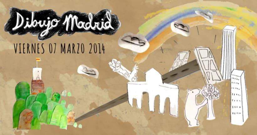 Dibujo Madrid poster -1