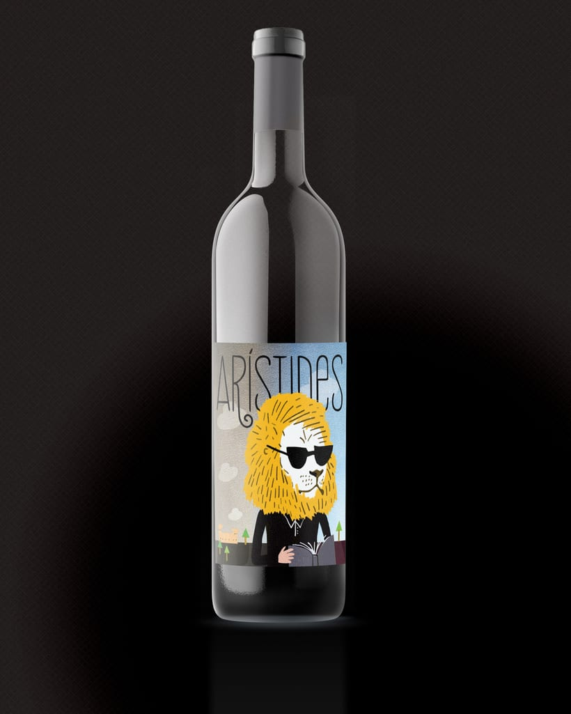 Arístides wine label -1