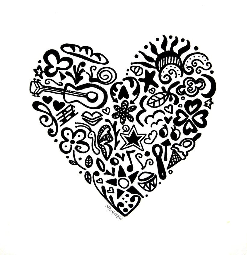 Corazón ilustrado  -1