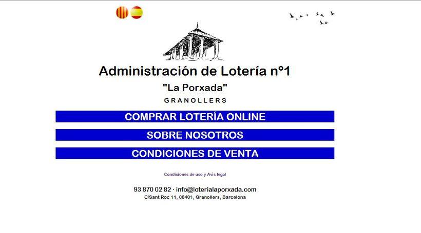 Diseño Web Responsive Loteria LA PORXADA 1