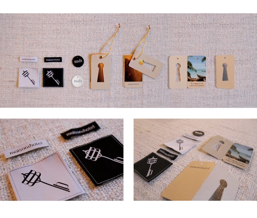 Branding de moda completo para maison hôtel (www.maisonh.com) 4