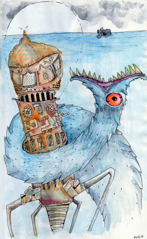 Ilustraciones inspiradas en el libro Deriva 0