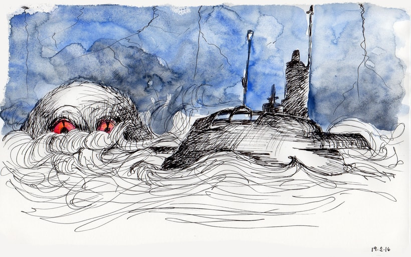 Ilustraciones inspiradas en el libro Deriva 1