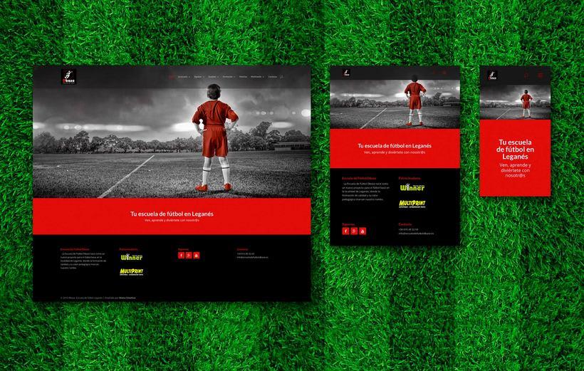 Diseño Web para Escuela de fútbol Dbase 0