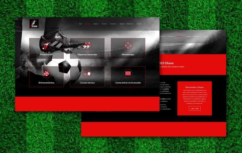 Diseño Web para Escuela de fútbol Dbase 1