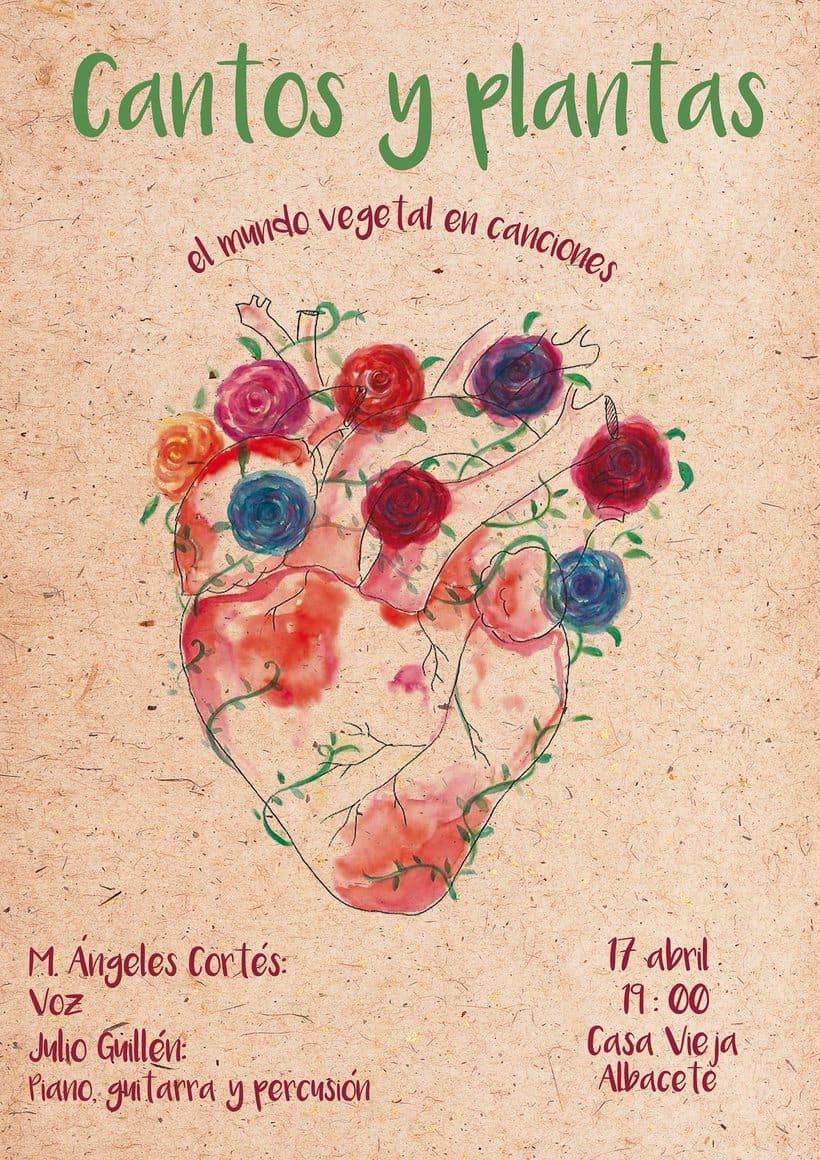 Cartel para evento: Cantos y Plantas -1