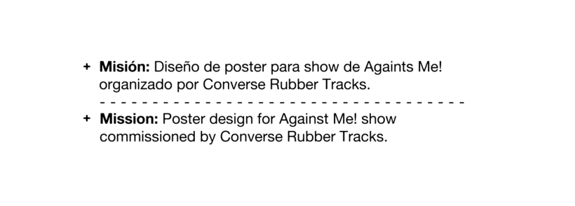 CONVERSE BUBBER TRACKS / AGAINTS ME! 1