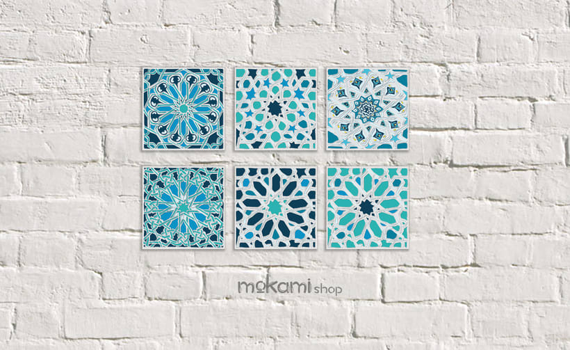 Moroccan canvases wall decor by Mokami Design 1