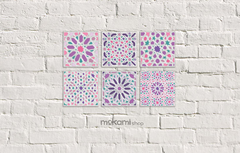 Moroccan canvases wall decor by Mokami Design 2