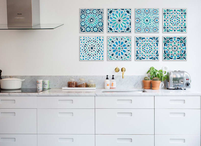 Moroccan canvases wall decor by Mokami Design 5