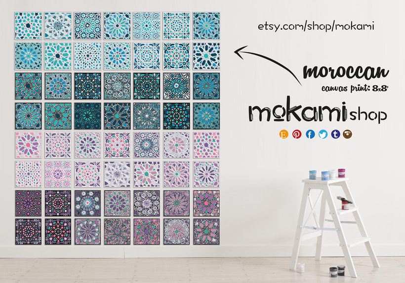 Moroccan canvases wall decor by Mokami Design 0