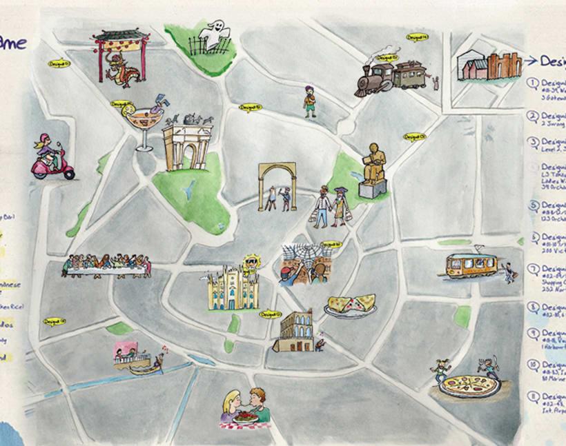 Mapas Desigual: Singapur y Milán 3