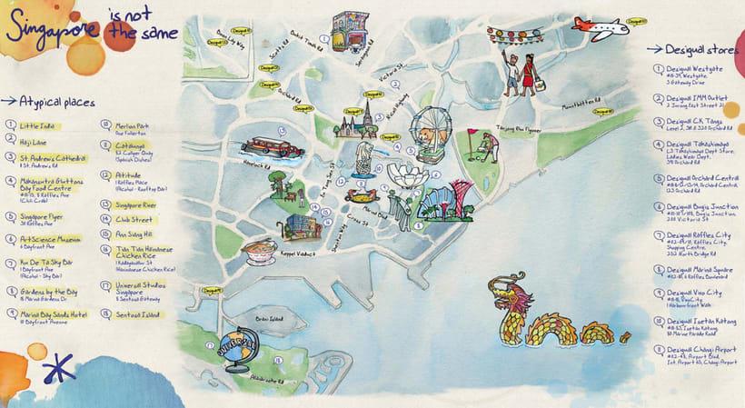 Mapas Desigual: Singapur y Milán 0