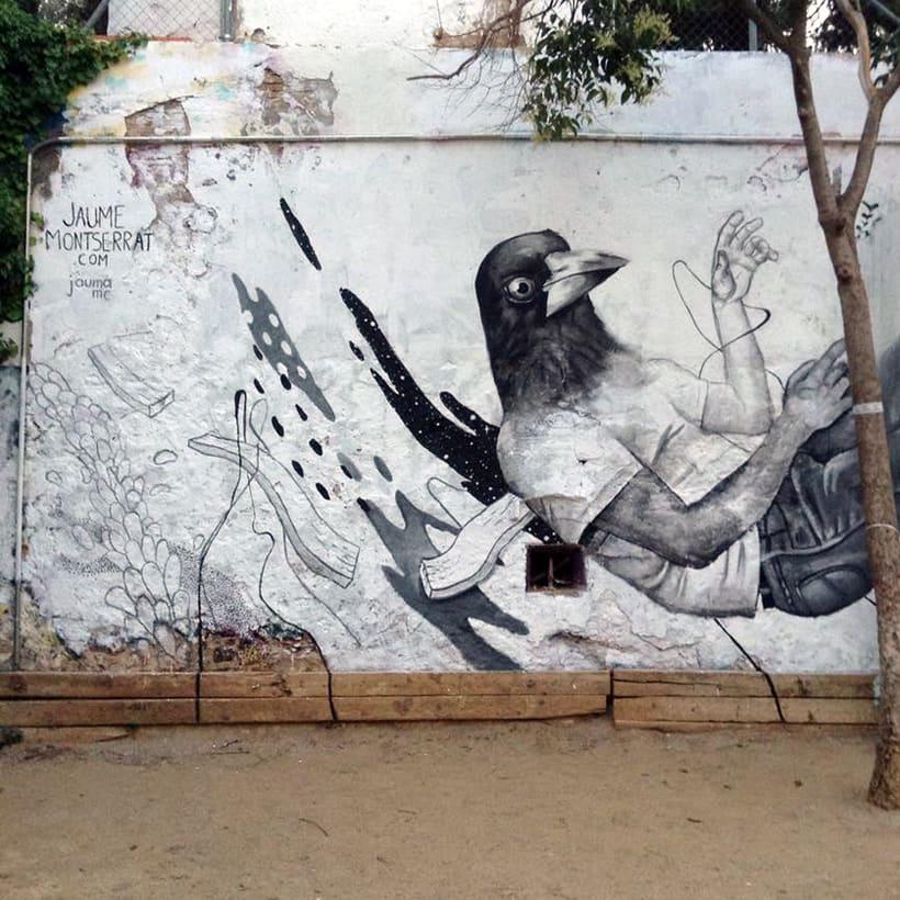 Mural: Centro Cívico Guinardó -1