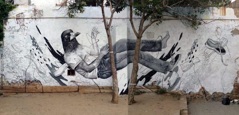 Mural: Centro Cívico Guinardó 1
