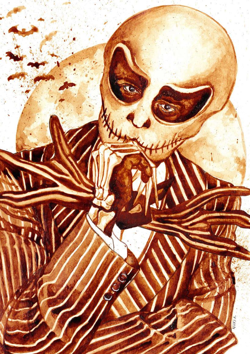 """""""Halloween time"""" - Ilustraciones con café y acuarelas 1"""