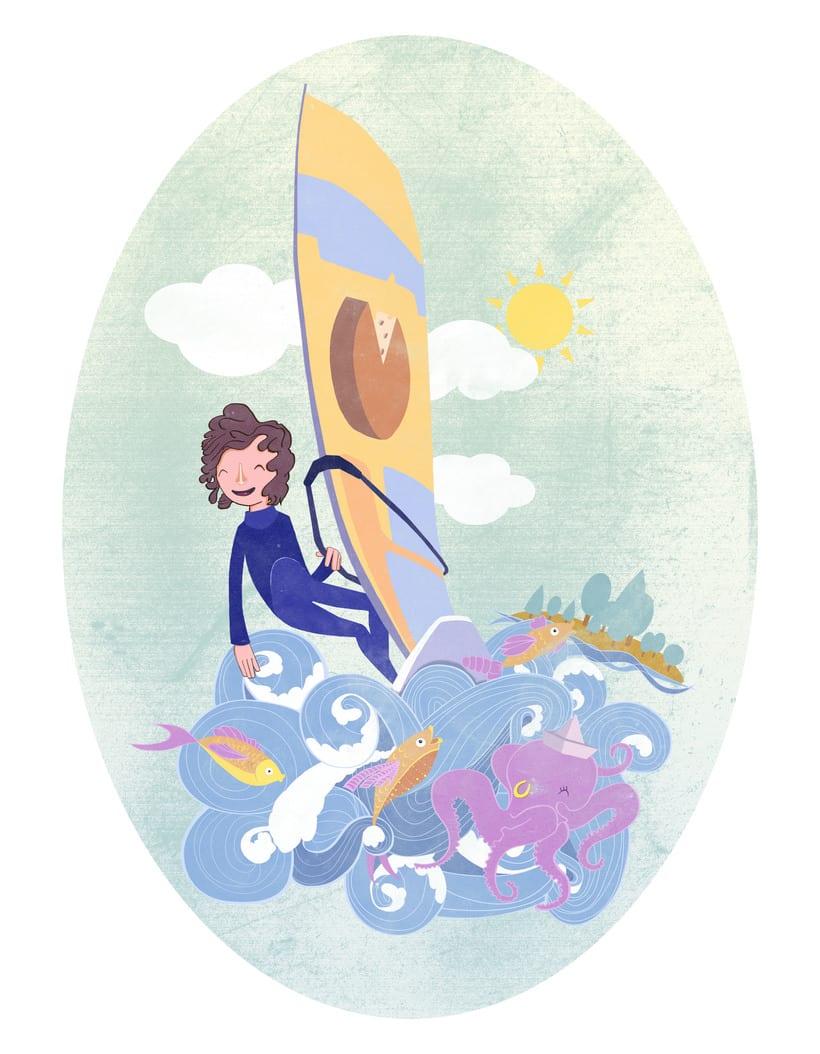 Ilustración para cartel  V Regata del Queso -1