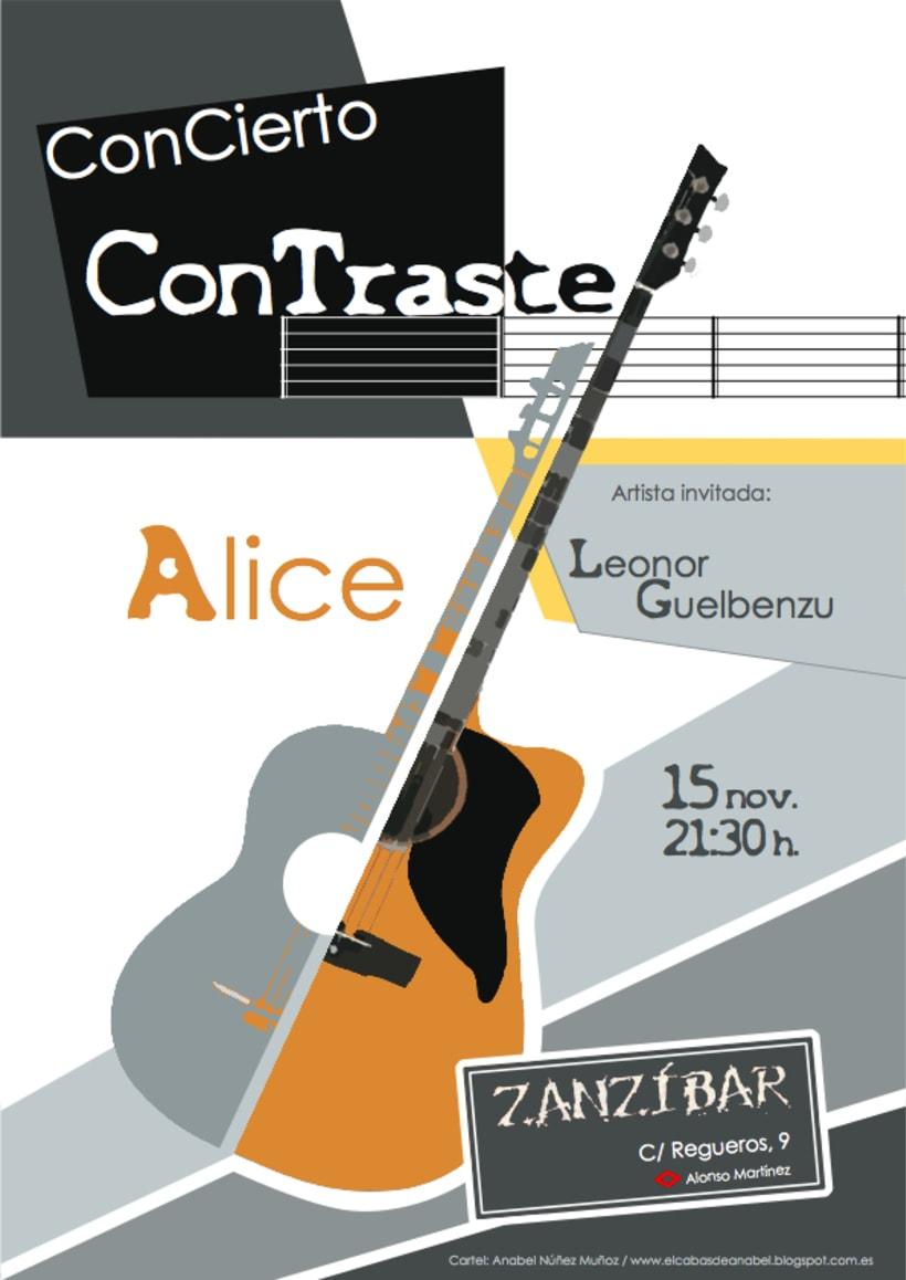 """Cartel para concierto """"Contraste"""" -1"""