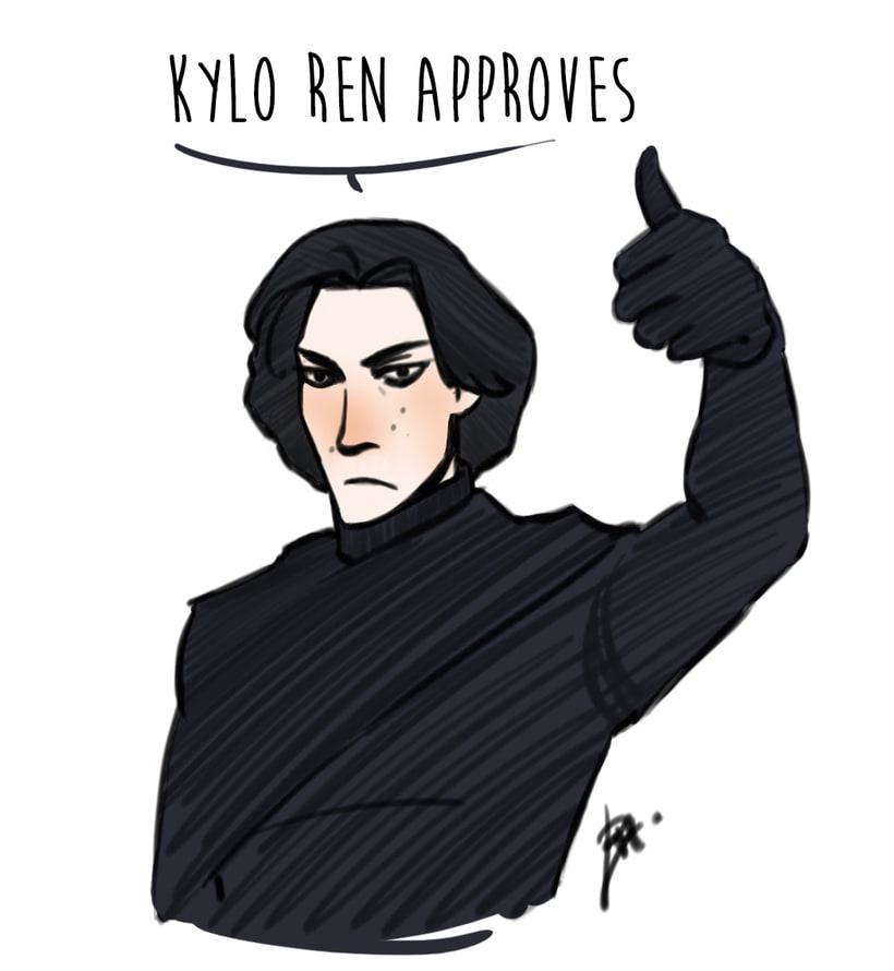 Kylo Ren drawings (Star Wars 7) 9