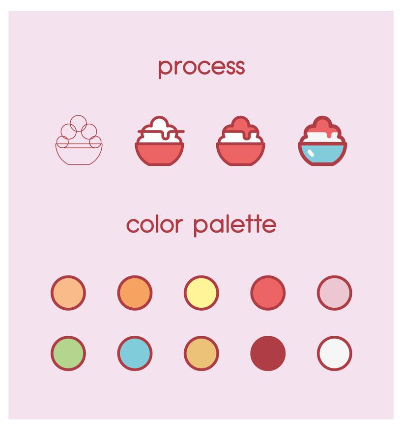 Snacks japanese people enjoy - an icon set 5