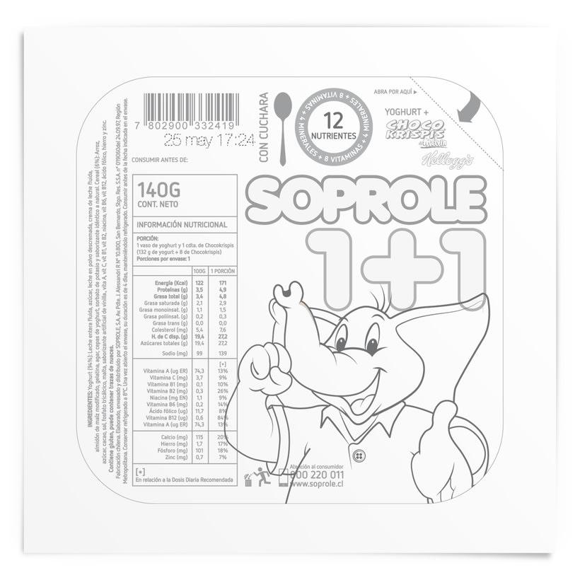 SOPROLE 1+1 / CHOCO KRISPIS 2