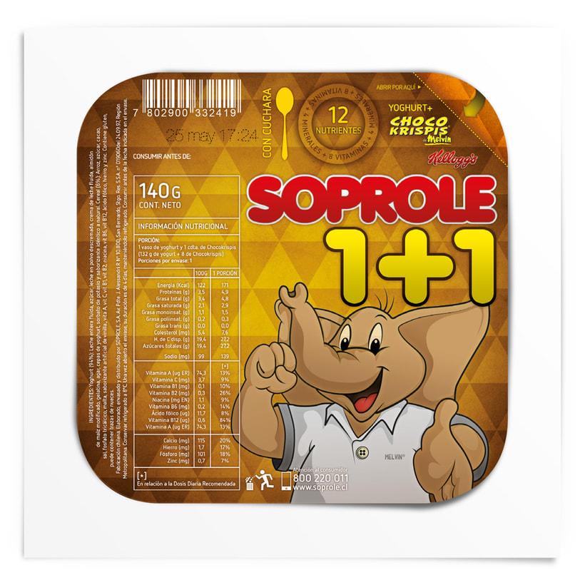 SOPROLE 1+1 / CHOCO KRISPIS 3