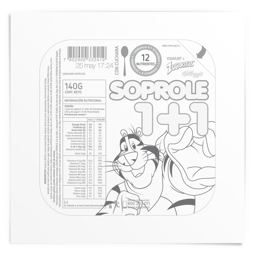 SOPROLE 1+1 / ZUCARITAS 2