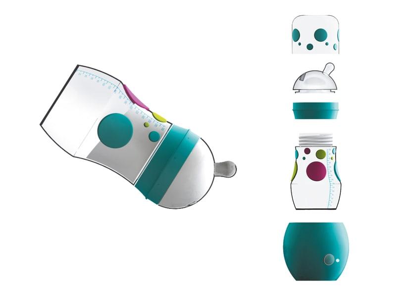 Diseño de Biberón autocalentable BabyGo 1