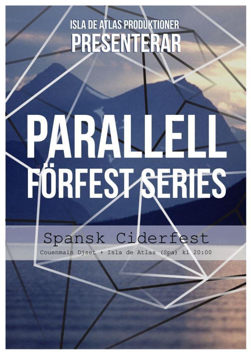 PARALLELL FÖRFEST SERIES / Poster promocional para evento en Parallell Gallery (Stockholm) -1