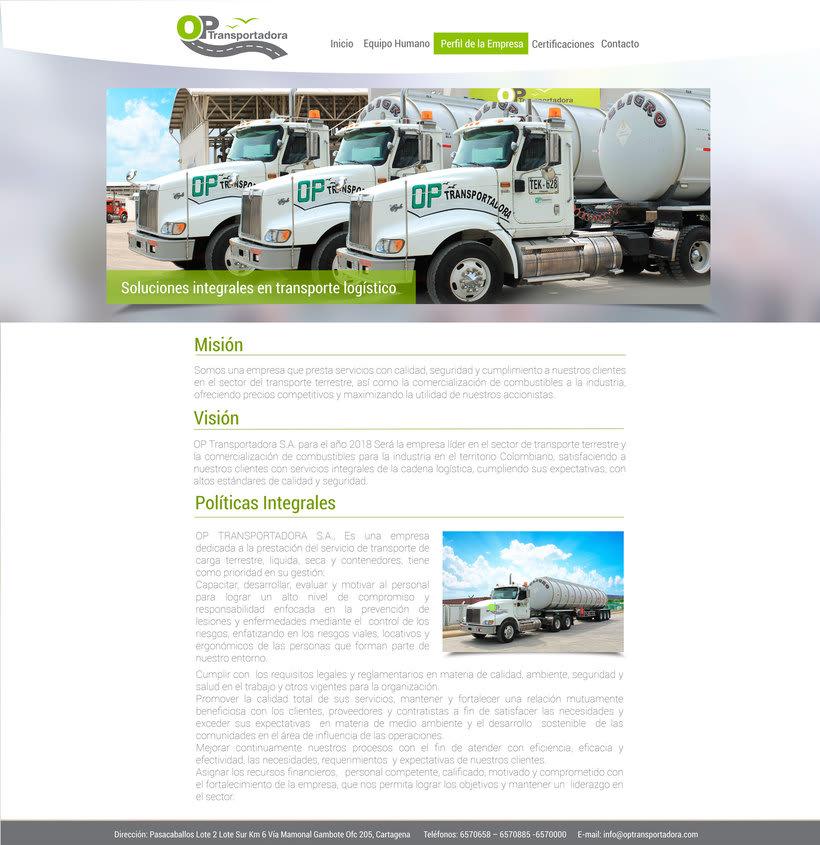 Diseño Web OP Trasportadora 2