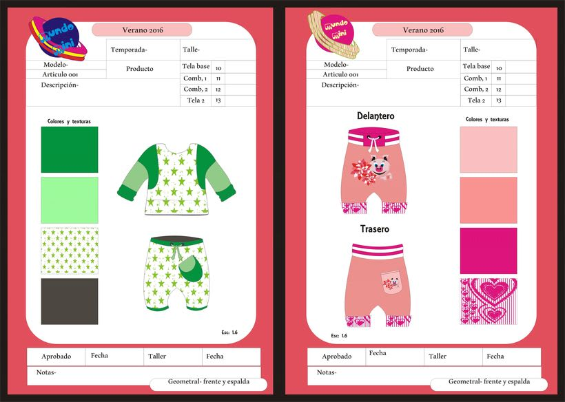 diseños para empresa de indumentaria de niños -1