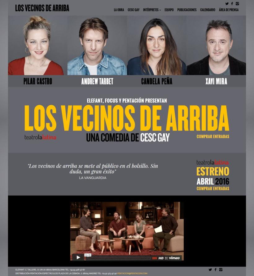 SEO para la obra de teatro Los Vecinos de arriba -1