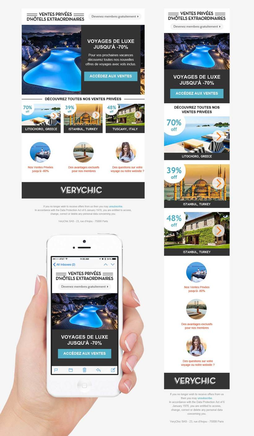 VeryChic email design 0