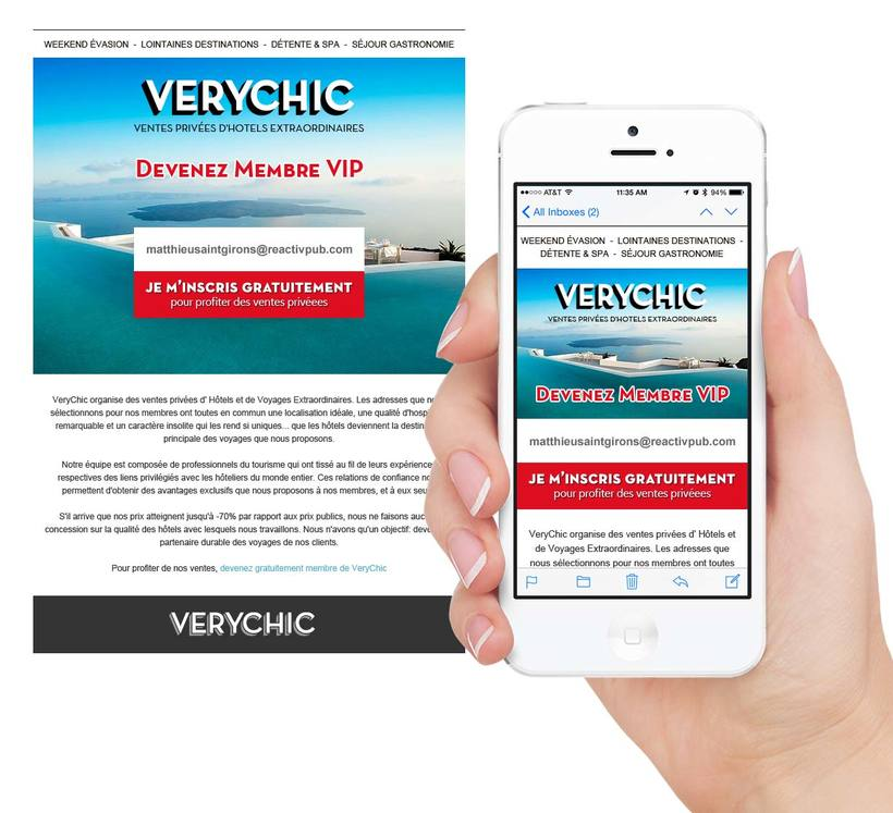 VeryChic email design 1