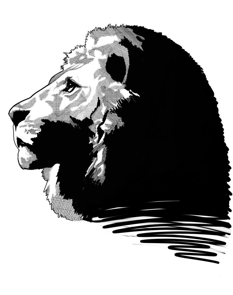"""Ilustración """"Lion & Colors"""" 1"""