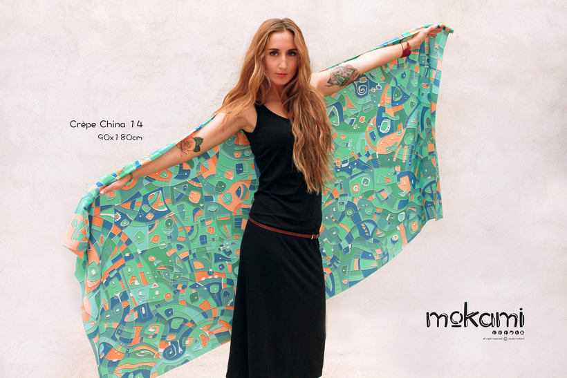 Silk scarves & shawl designs by mokami on Etsy 1