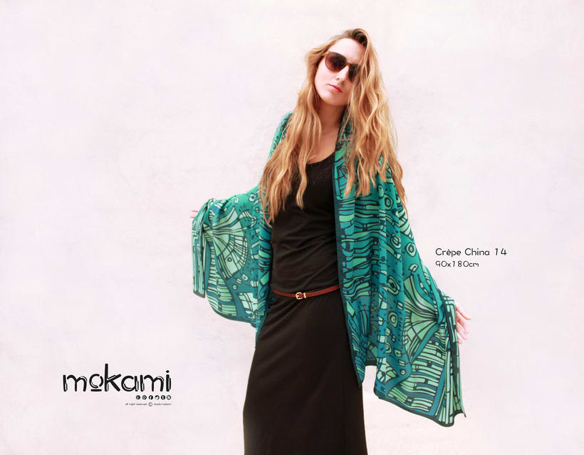 Silk scarves & shawl designs by mokami on Etsy 4