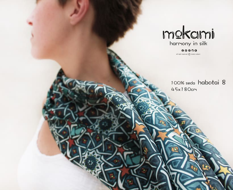 Silk scarves & shawl designs by mokami on Etsy 6